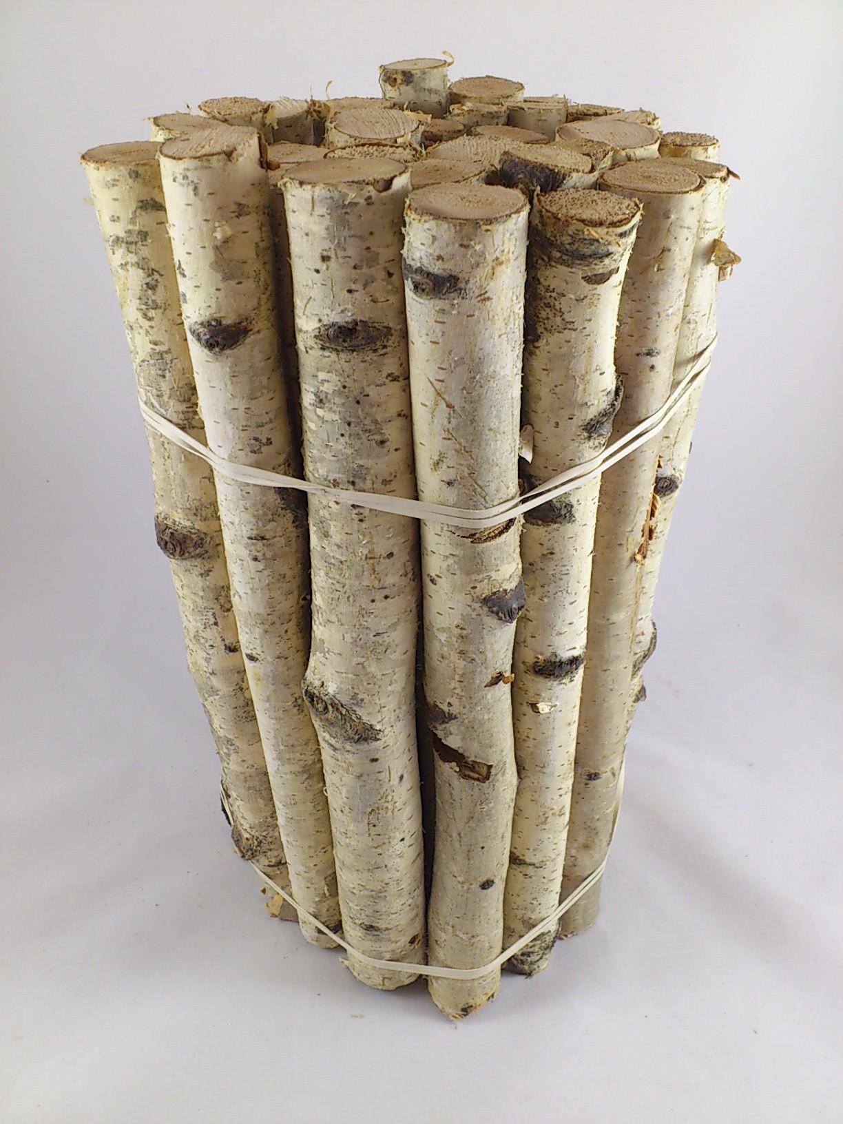 Bouleau petit troncs bundle 30 cm bloemschikken verzending va 30 - Blootgestelde houten bundel ...