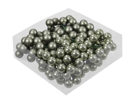Boules de Noël en verre s. fil de 20 mm 144pcs. granite green