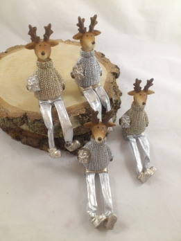 Poly moose 11 cm gold/silver 1 p.
